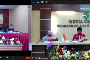 Tim Akreditasi Penjaminan Mutu Pengadilan Agama Simalungun ikuti Pembinaan APM oleh Pengadilan Tinggi Agama Medan