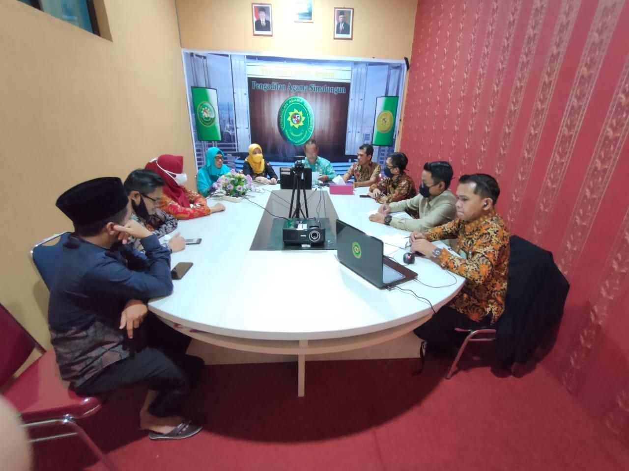 Pembinaan dan Pengawasan Berkelanjutan Melalui Virtual Meeting di Pengadilan Agama Simalungun | (14/7)